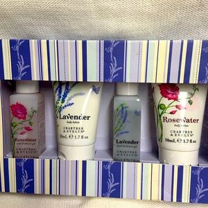 New. Crabtree & Evelyn Rosewater/Lavender
